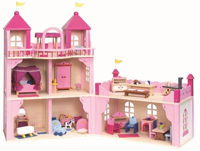 Goll&Kie - origine UE - Made in Europe Château Royal pour poupées articulées famille Royale