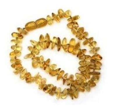 Origine inconnue Collier en ambre pour bébé 31 cm