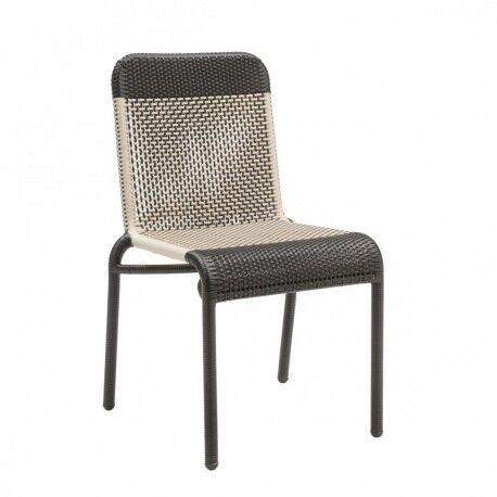 KOK Chaise de jardin Tobago marron foncé