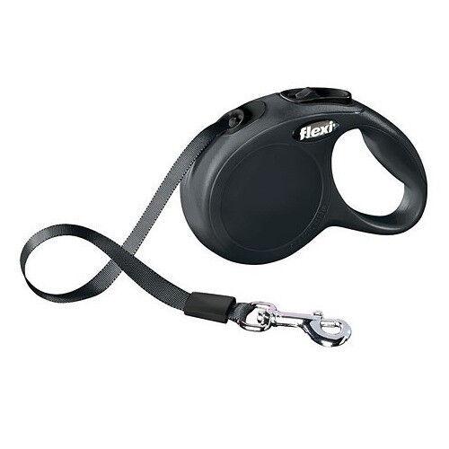KERBL Laisse Chien Flexi Classic Noir - Accessoire Chien - Combinaison Largeur et Taille: Longueur - 3 m, Taille - XS