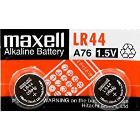 Maxell 2 Piles LR44 / A76 / V13GA Maxell Alcaline 1,5V