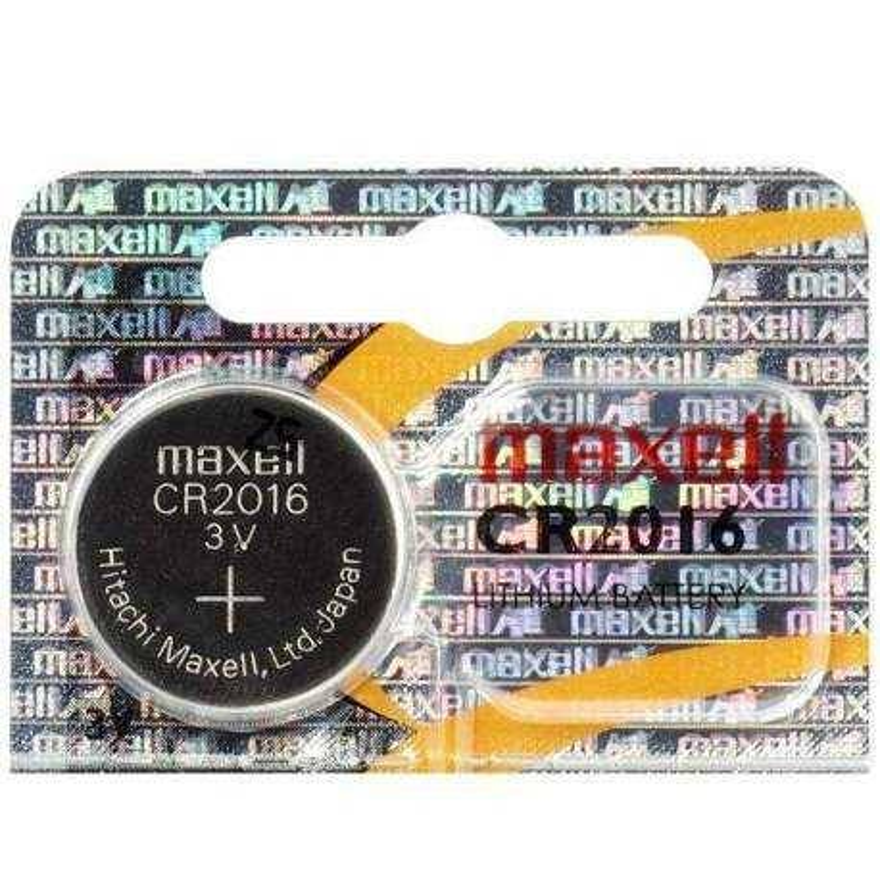 Maxell Pile CR2016 Maxell Bouton Lithium 3V