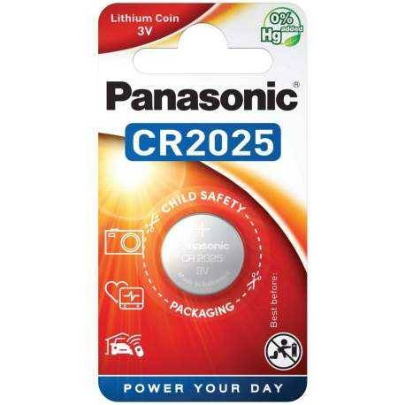 Panasonic Pile CR2025 Panasonic Bouton Lithium 3V