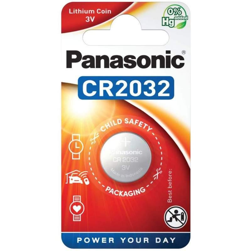 Panasonic Pile CR2032 Panasonic Bouton Lithium 3V