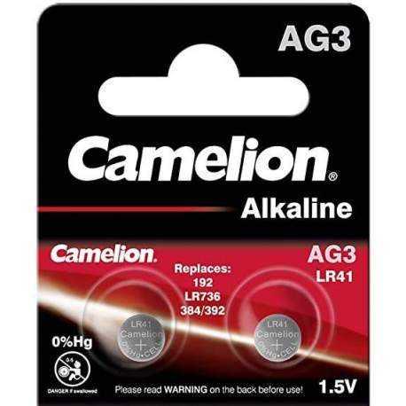 Camelion 2 Piles LR41 / AG3 / 392 / 192 Camelion Alcaline 1,5V