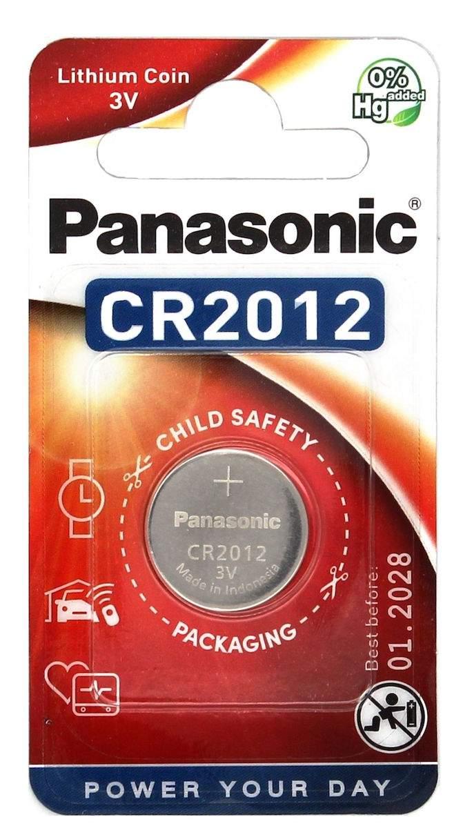 Panasonic Pile CR2012 Panasonic Bouton Lithium 3V