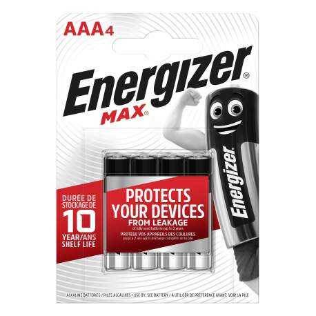 Energizer 4 Piles Alcalines AAA / LR03 Energizer Max