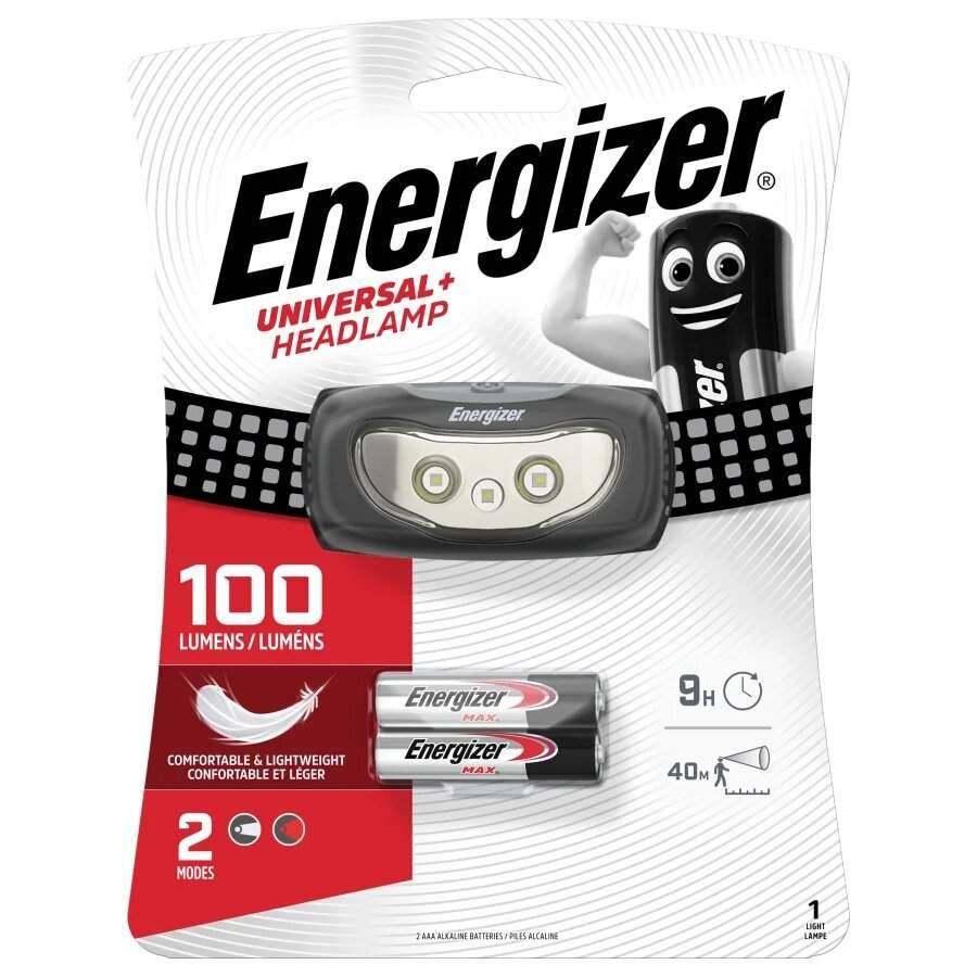 Energizer Frontale Energizer Universal+ Headlamp 100lm avec 2 piles AAA