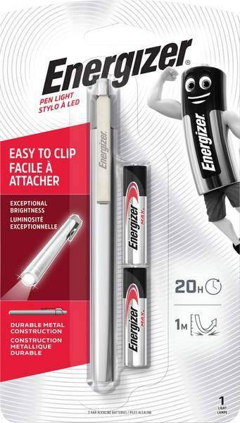 Energizer Torche Energizer Metal Pen Light avec 2 piles AAA