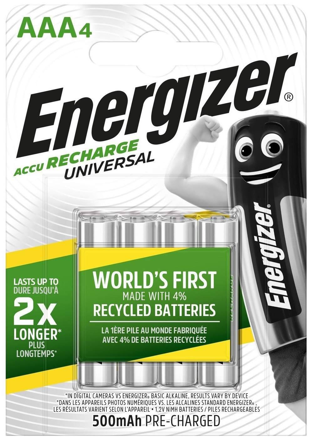 Energizer 4 Piles Rechargeables AAA / HR03 500mAh Energizer Universal