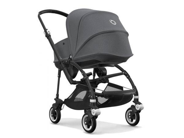 Bugaboo Poussette bugaboo bee 5 avec nacelle gris chine chassis noir