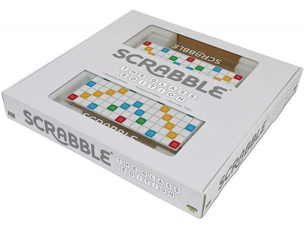 Megableu editions Scrabble plateau en verre luxe - dés 10 ans