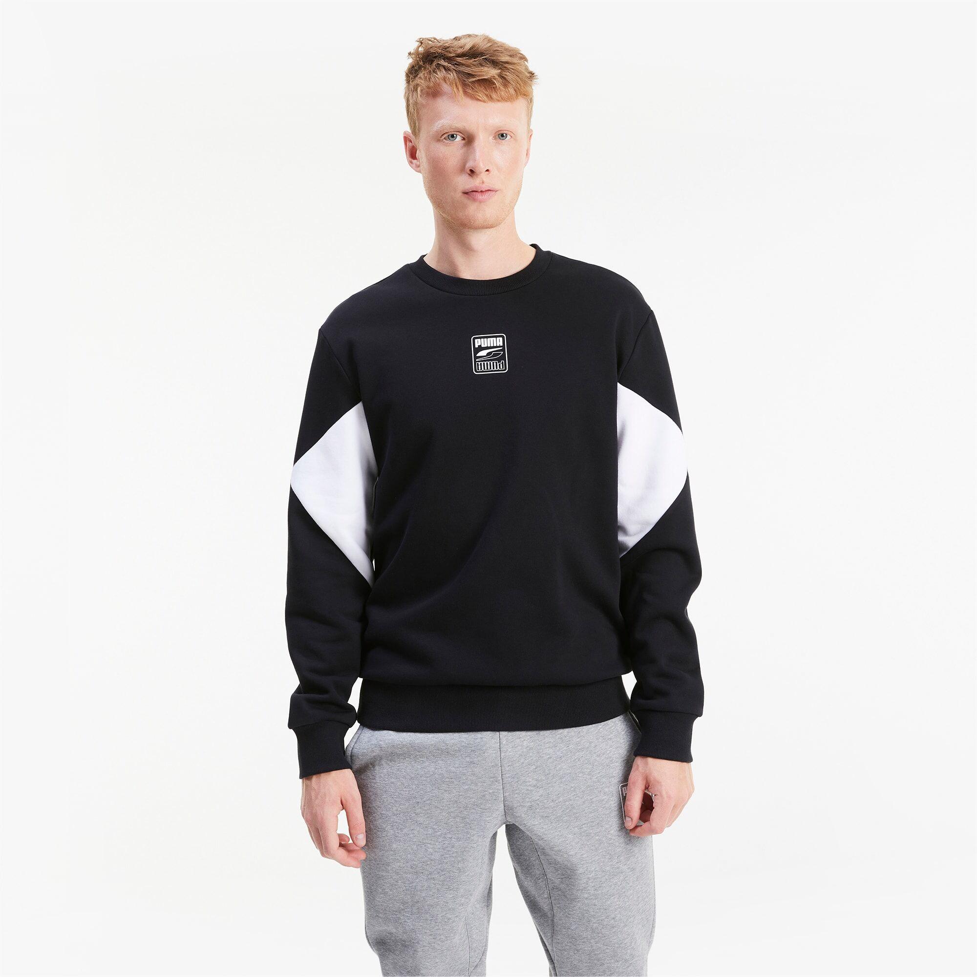 PUMA Sweat Rebel Small Logo pour Homme, Noir, Taille XL, Vêtements