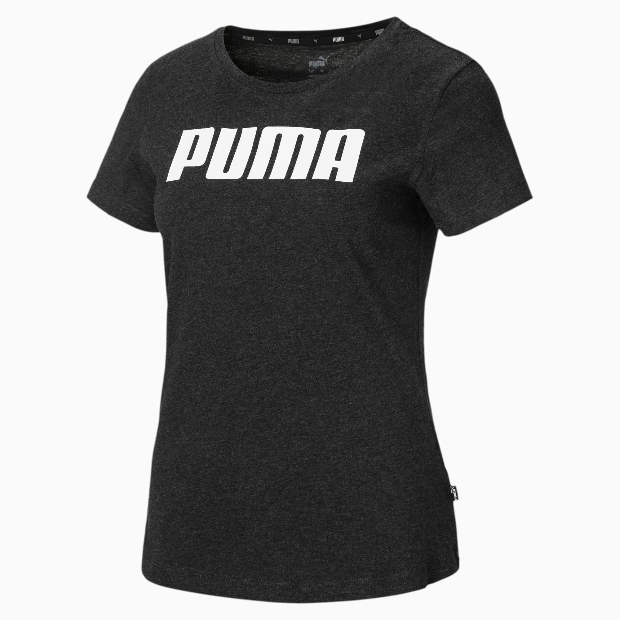 PUMA T-Shirt Essentials pour Femme, Gris/Bruyère, Taille M, Vêtements