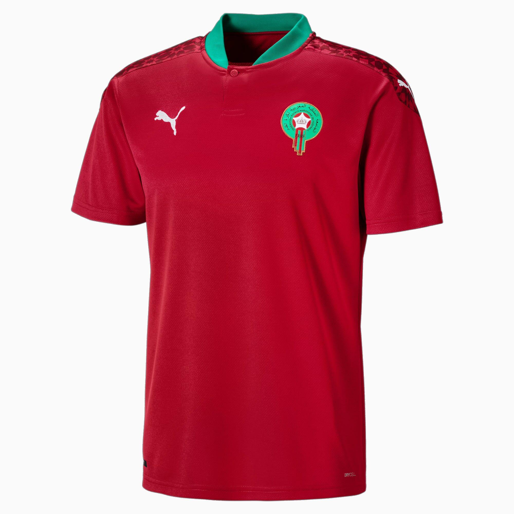 PUMA Maillot domicile Maroc Replica pour Homme, Rouge/Blanc, Taille 3XL, Vêtements