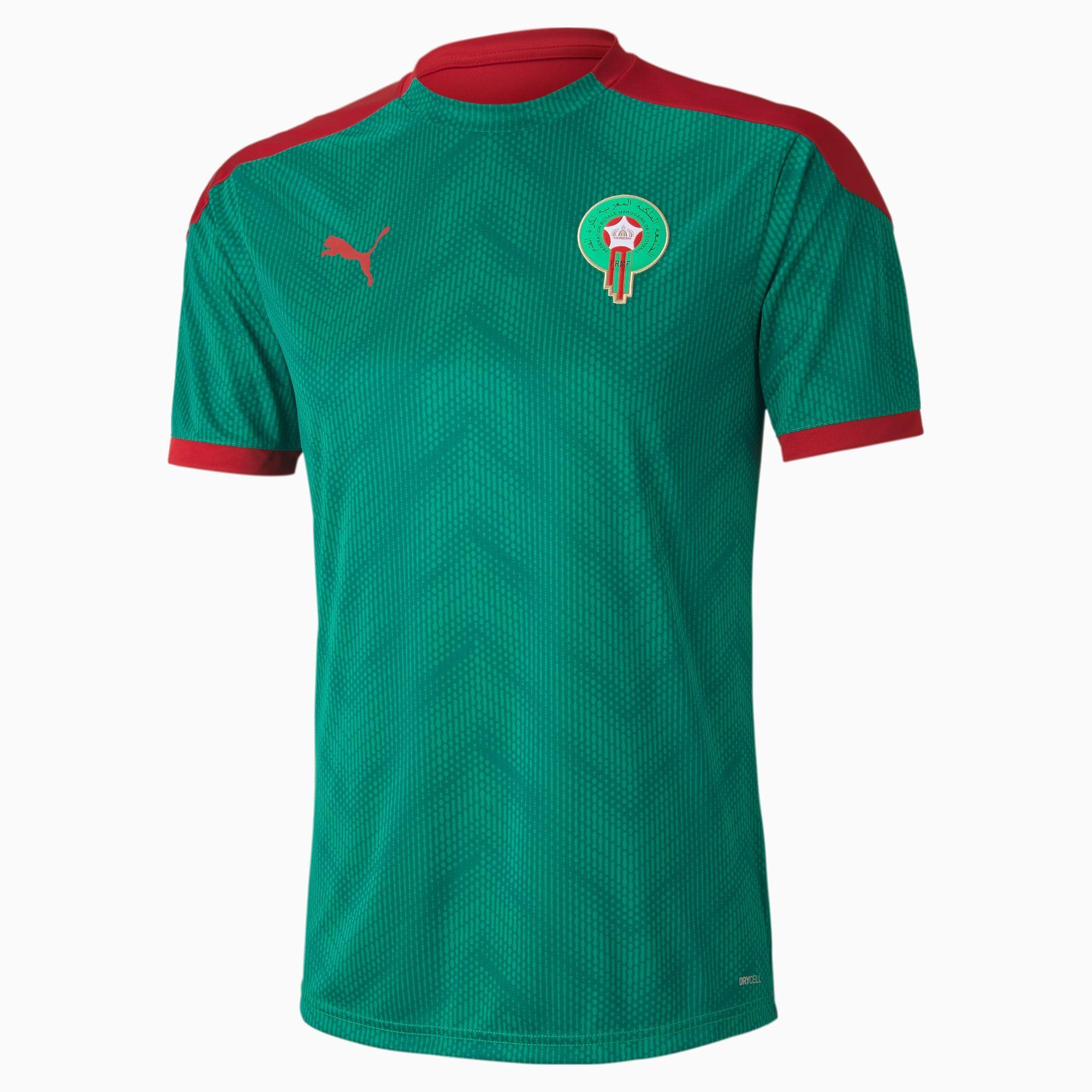 PUMA Maillot Stadium Maroc pour Homme, Vert/Rouge, Taille XS, Vêtements