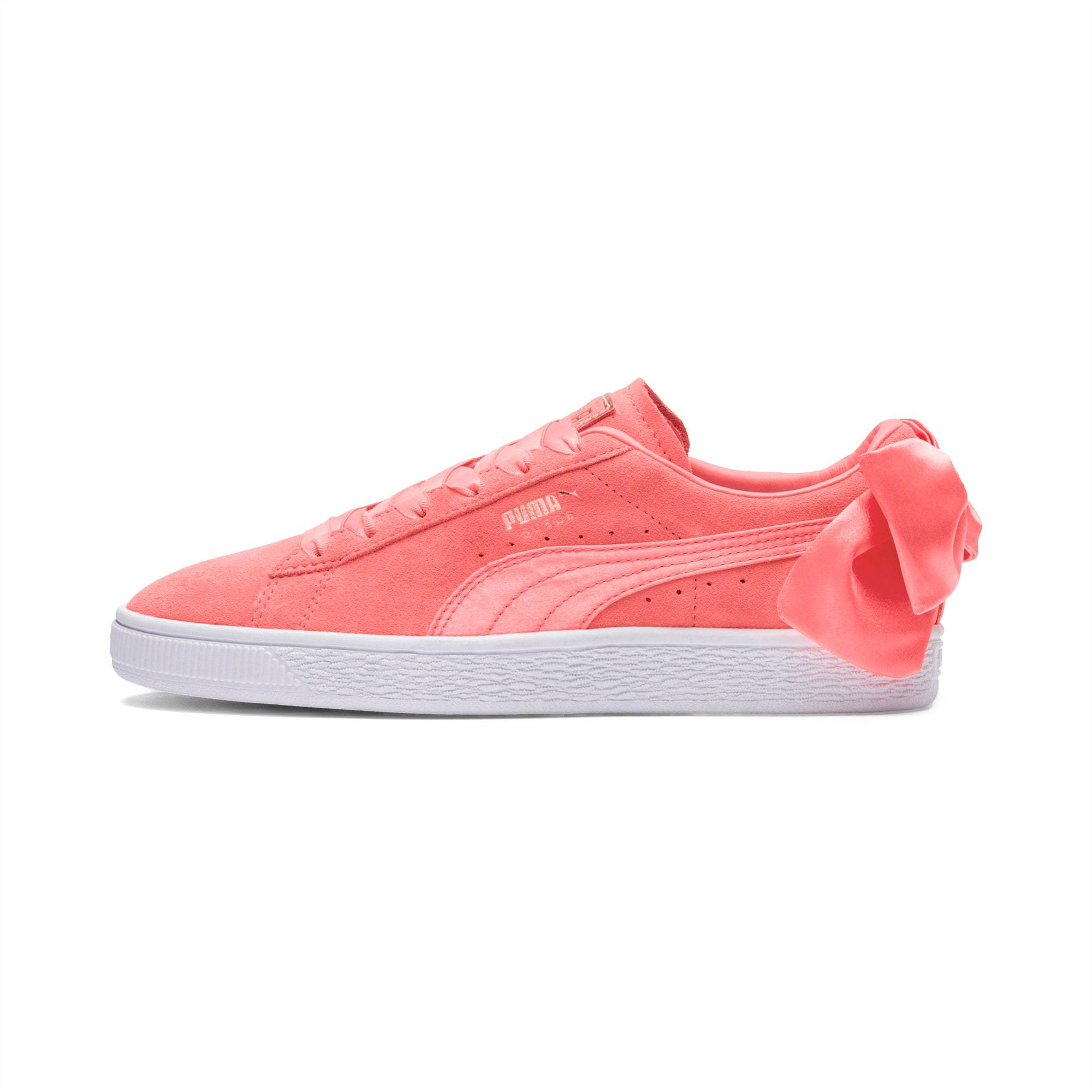PUMA Chaussure Suede Bow pour Femme, Rose, Taille 40.5, Chaussures