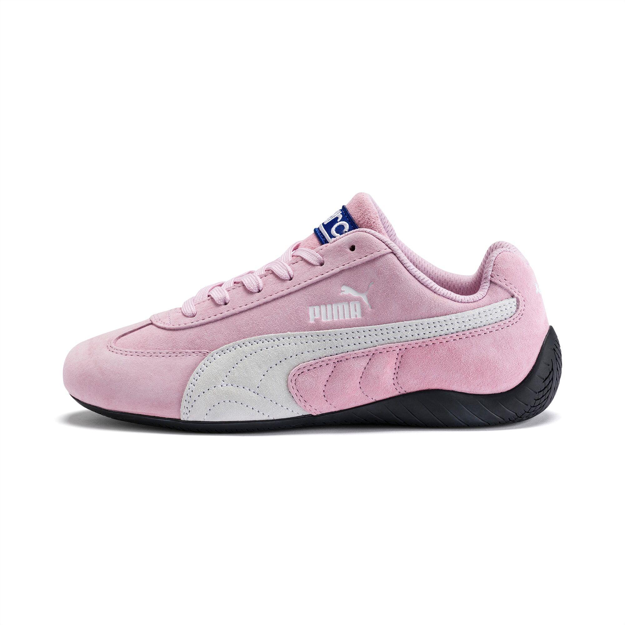 PUMA Chaussure Basket SpeedCat Sparco, Rose/Blanc, Taille 39, Vêtements