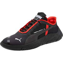 PUMA Chaussure Basket Replicat-X Circuit, Noir/Rouge, Taille 46, Vêtements