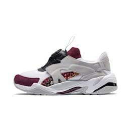 PUMA Chaussure Basket PUMA x LES BENJAMINS Thunder Disc, Blanc/Gris, Taille 38, Chaussures