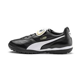 PUMA Chaussure de foot KING TOP TT, Noir/Blanc, Taille 37, Vêtements