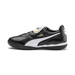 PUMA Chaussure de foot KING TOP TT, Noir/Blanc, Taille 46, Vêtements