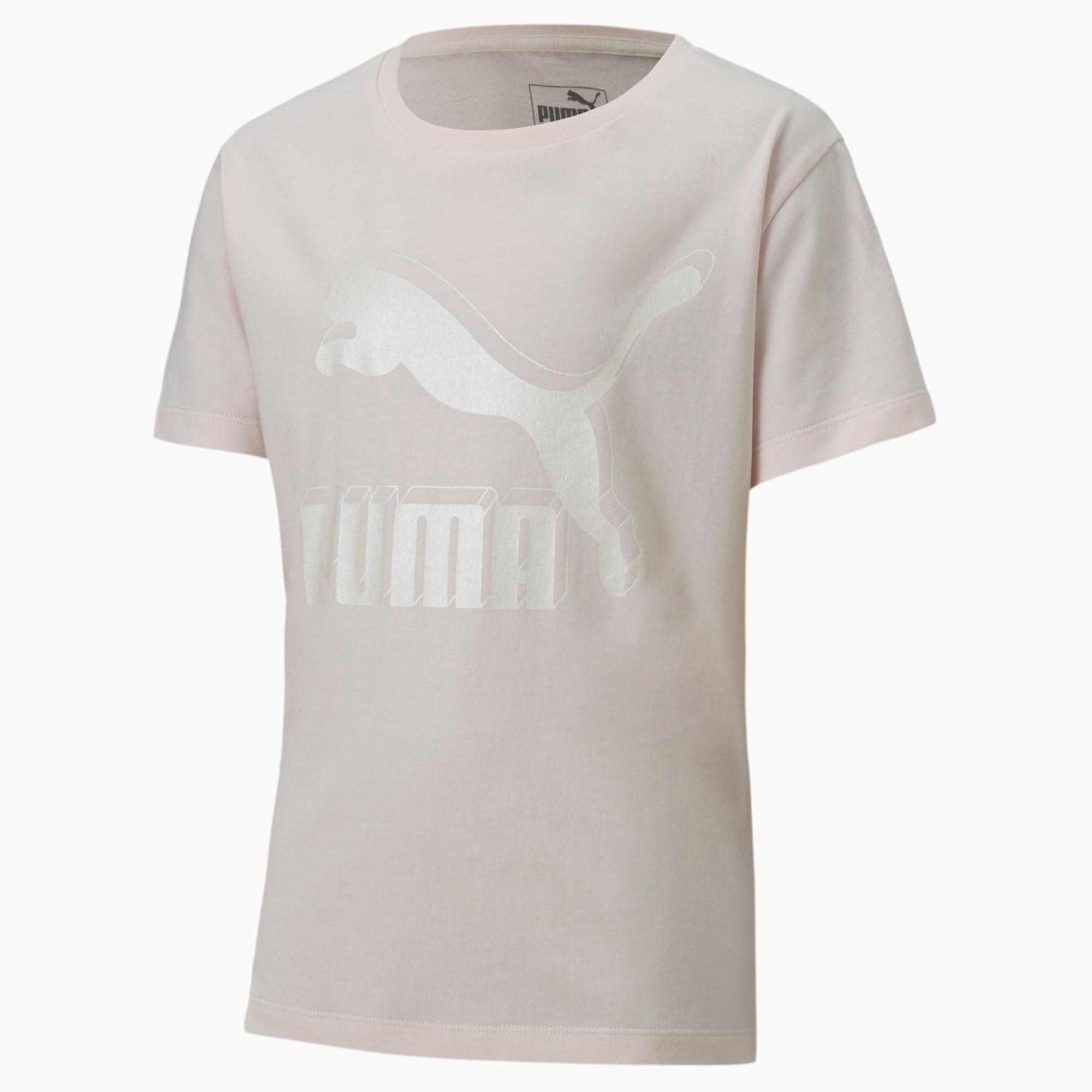 PUMA T-Shirt Classics Graphic pour fille, Rose, Taille 116, Vêtements