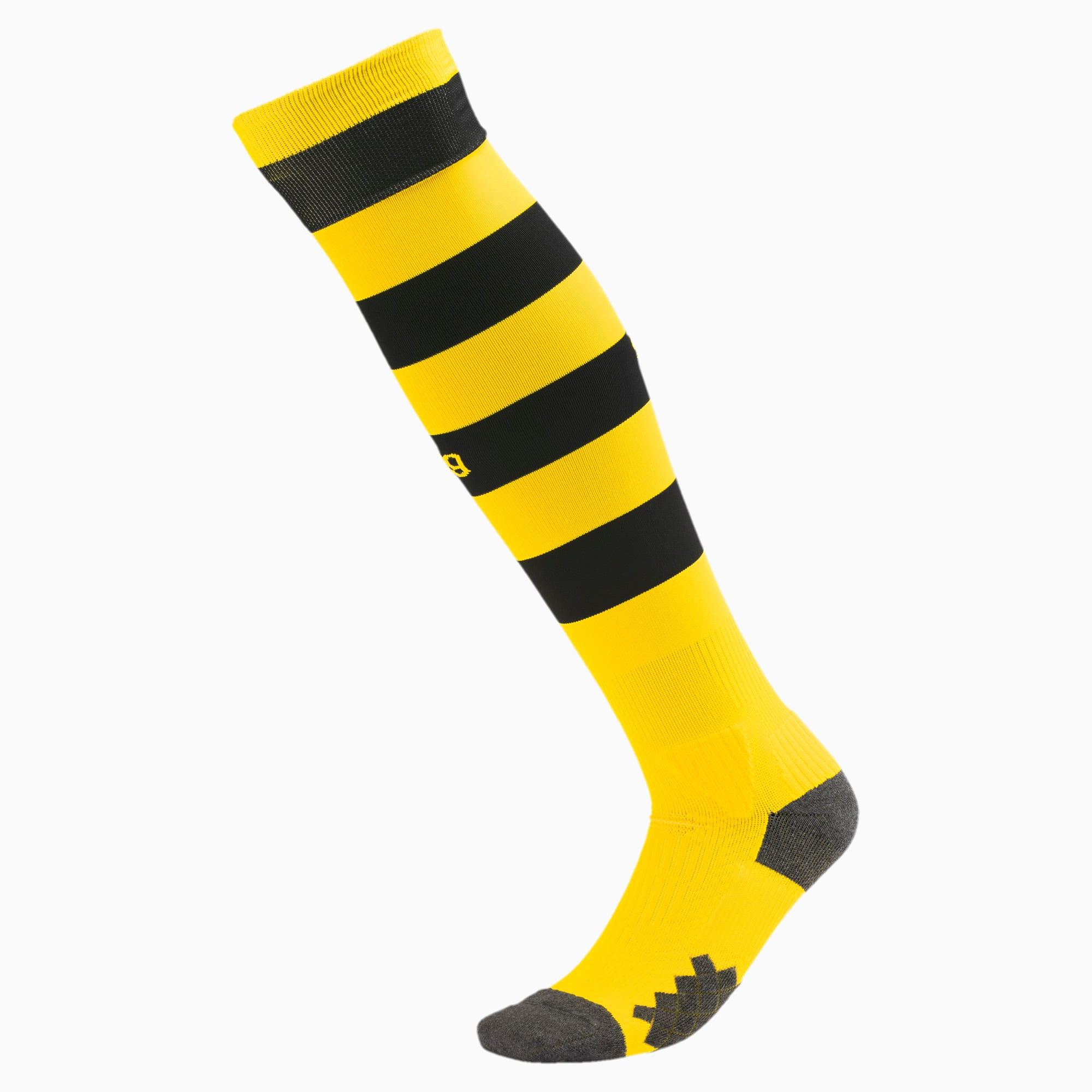PUMA Chaussure Chaussettes rayées BVB pour Homme, Jaune/Noir, Taille 43-46, Chaussures