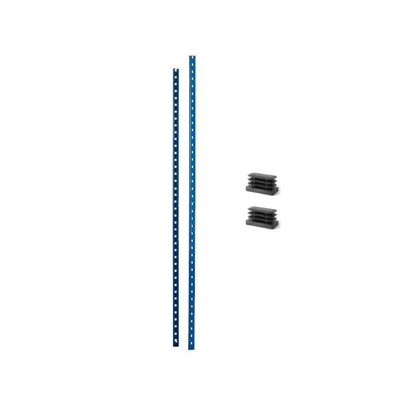 Paire de poteaux + pieds plastique pour rayonnage Leger 180 Kg - 300 Kg