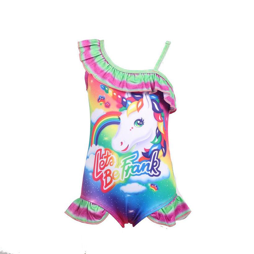 Maillot de bain licorne pour enfants   Une pièce, pour bébés filles, costume de bain licorne, pour enfants, 0373