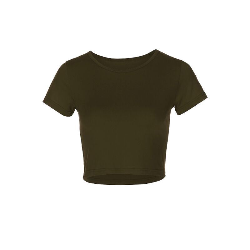 Vêtements personnalisés En Coton Imprimé À Manches Courtes Nombril T-shirt
