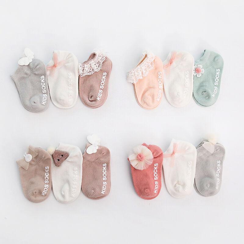 Chaussettes d'été en coton pour bébés   Chaussettes antidérapantes pour nouveau-nés, vêtements de sol pour enfants