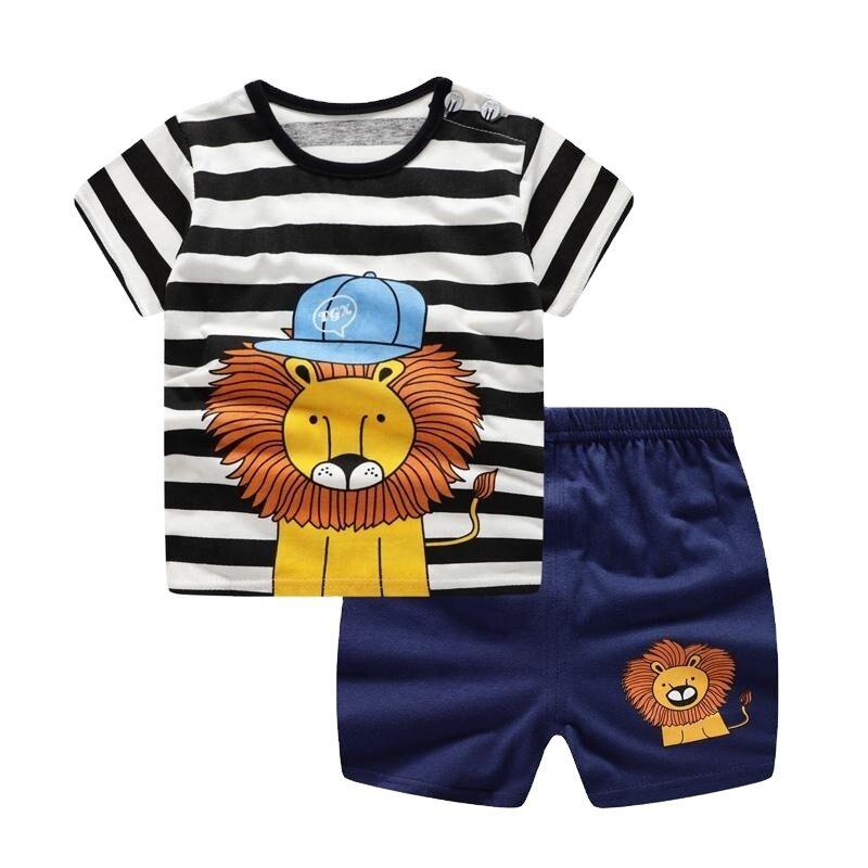 Vêtements pour garçons et enfants   T-shirt à manches courtes + Shorts, ensemble 2 pièces, vêtements pour bébés garçons et filles