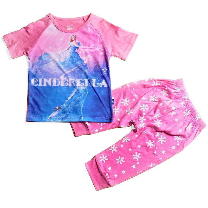 Ensemble de deux pièces pour filles   T-Shirt personnalisé imprimé, produits de promotion, vêtements pour bébés, échantillon gratuit, vêtements pour enfants