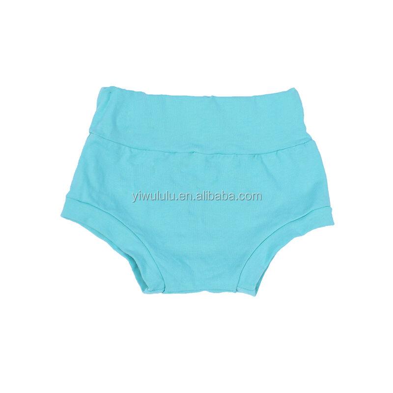 Bébé Turquoise Bummies Couleur Unie Coton Short Taille Haute Bambin pantalon D'escalade