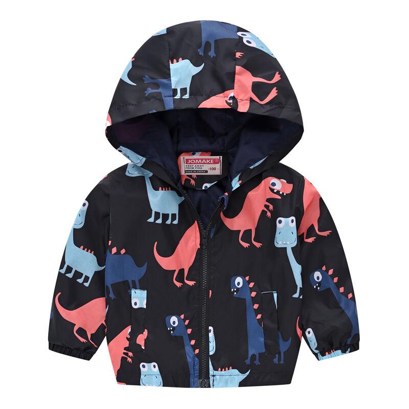 Manteau de printemps et d'automne pour enfants   Vêtements d'extérieur, design de dessin animé, coupe-vent, vêtements pour bébés, 90-130cm
