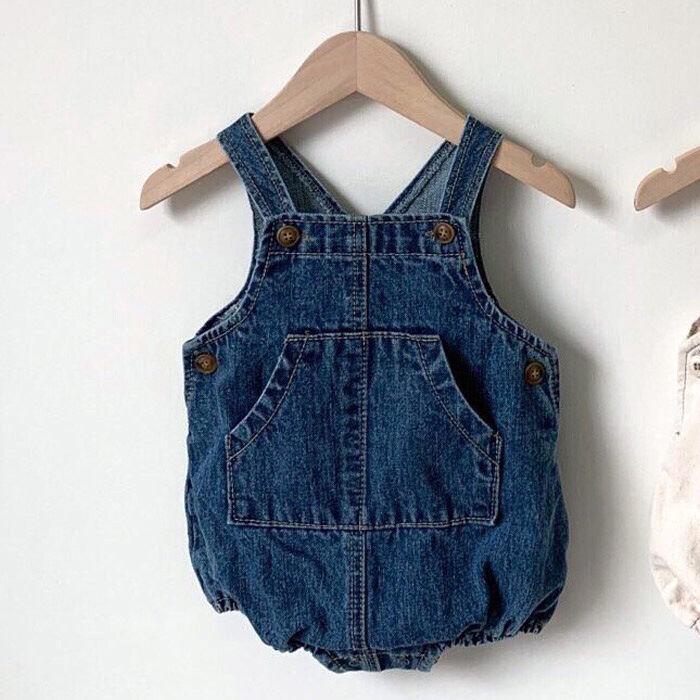 Bébé vêtements bébé filles combinaisons garçons filles denim combinaisons bébé une pièce