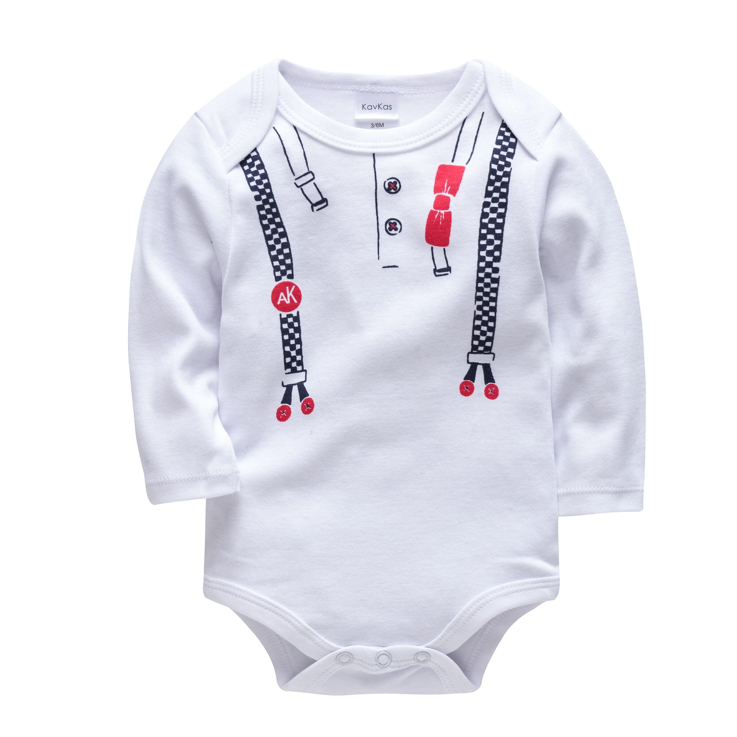 Bébé barboteuse vêtements nouveau-né garçons filles vêtements coton tissu boutons-pression
