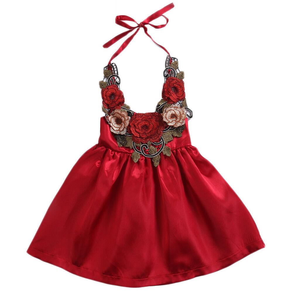 Bébé Fille Tridimensionnel Fleur Robe Mignon Enfant en bas âge enfant Fête Fleur Soleil Jupe