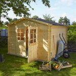 madeira  MADEIRA Abri de jardin IBIS 8,88m², double porte, madriers d'épaisseur... par LeGuide.com Publicité