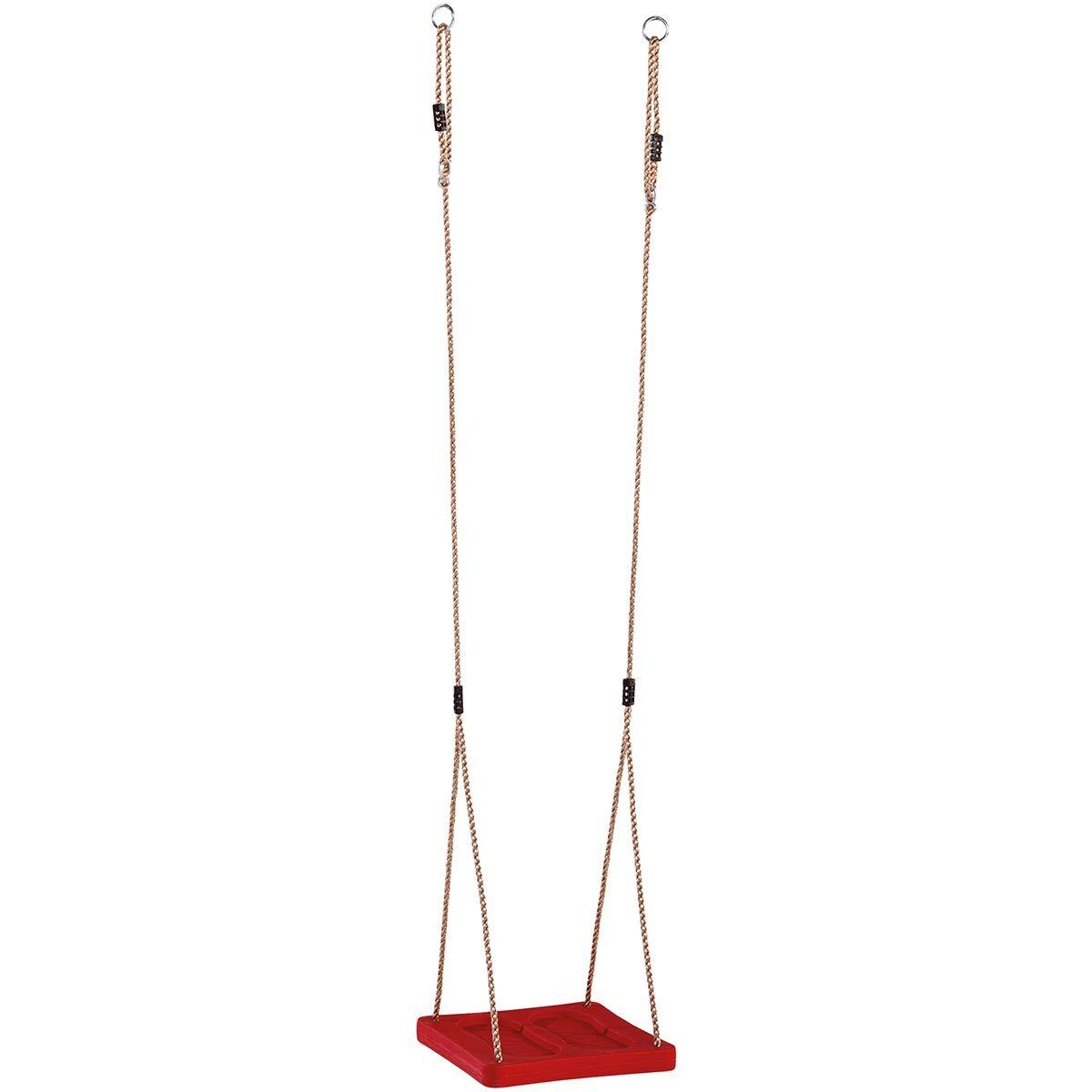 KBT Balançoire pieds en plastique rouge, 357 x 355 x 40 mm