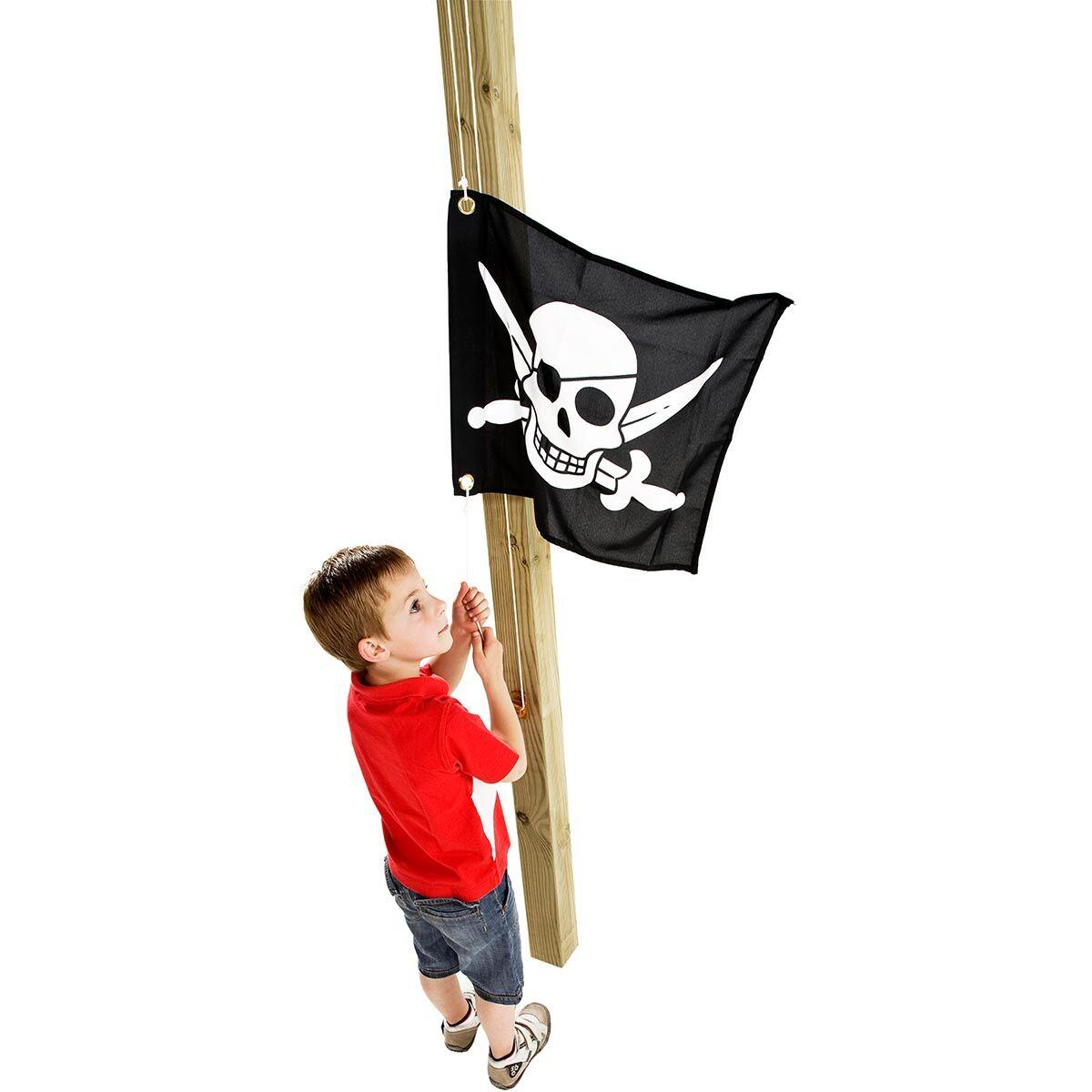KBT Drapeau Pirate avec Système de Hissage pour Tour de jeux - 550 x 450 mm