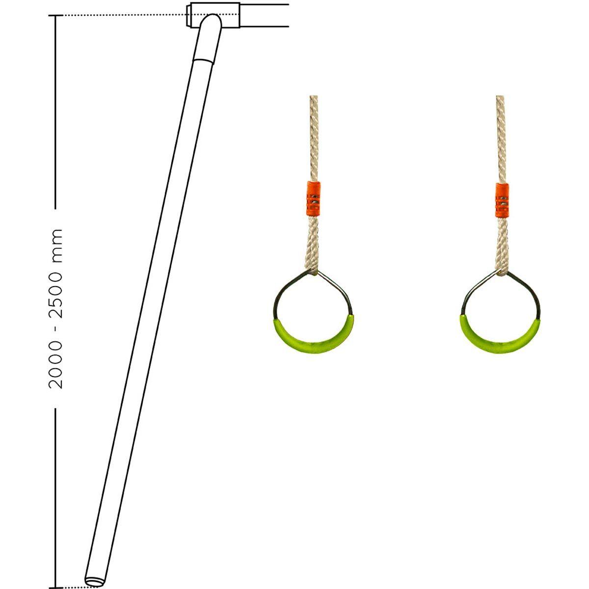 SOULET Paire d'anneaux en métal pour portique - Soulet