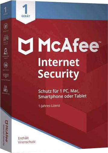 McAfee Internet Security 2020 Version complète 1 Année 1 Appareil