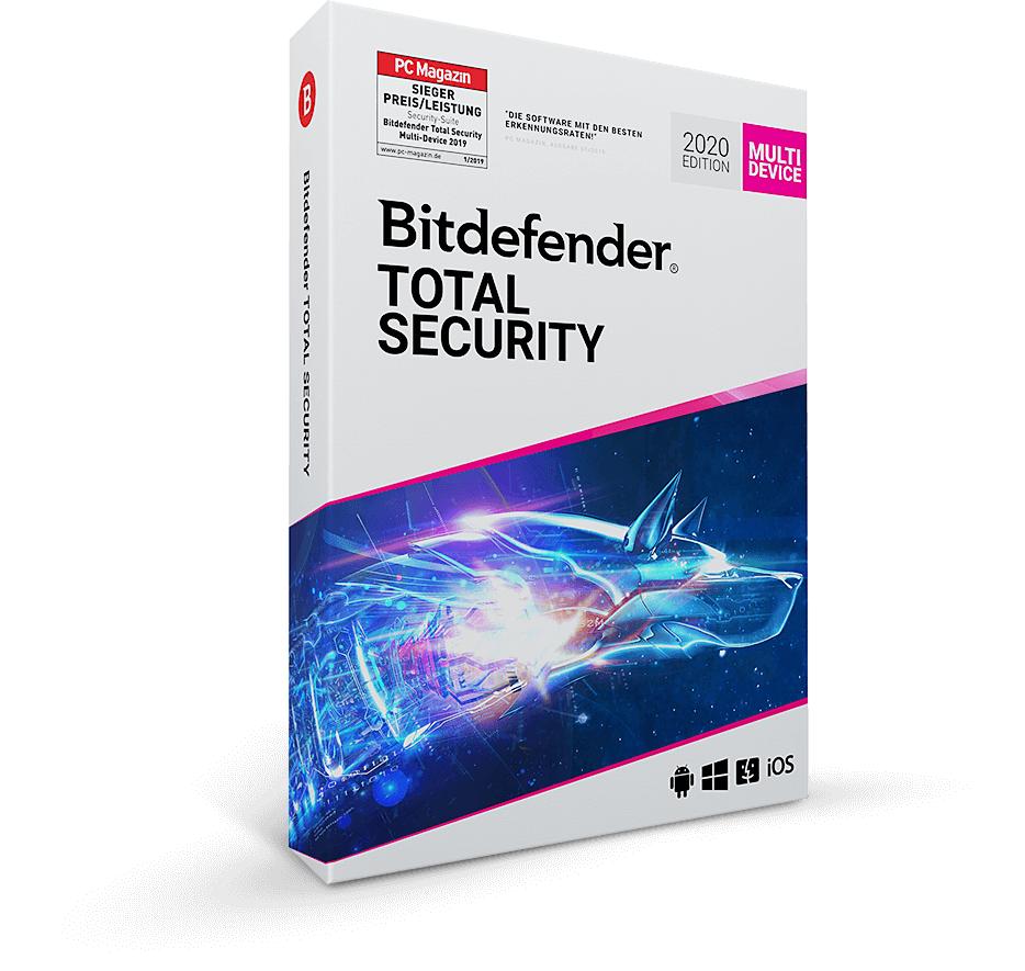 Bitdefender Total Security 2020 3 ans version complète Multi Device 10 appareils
