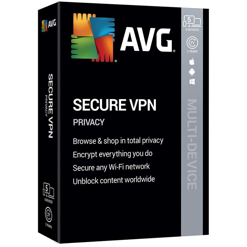 AVG Secure VPN 2020 1-2 ans télécharger Appareils illimités 2 Años
