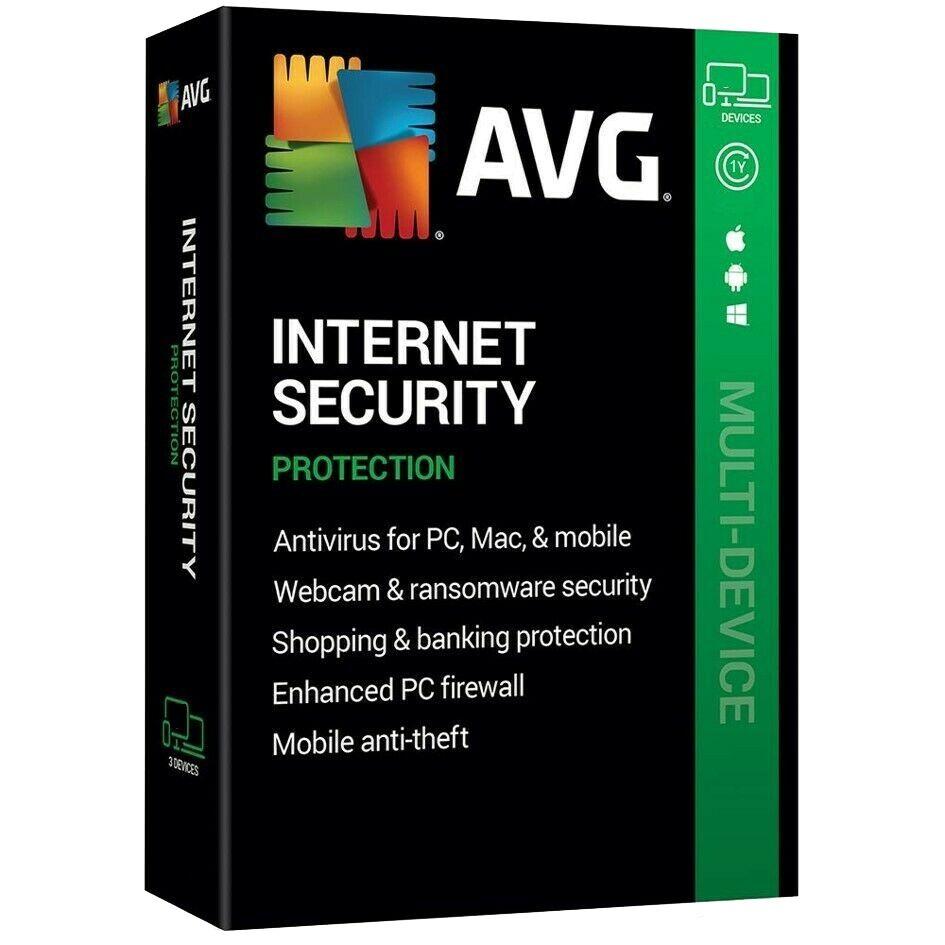 AVG Internet Security 2020 Full Version Téléchargement en anglais 1 Appareil 1 Año