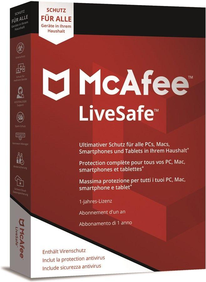 McAfee LiveSafe 2020 1 Appareil 1 Año