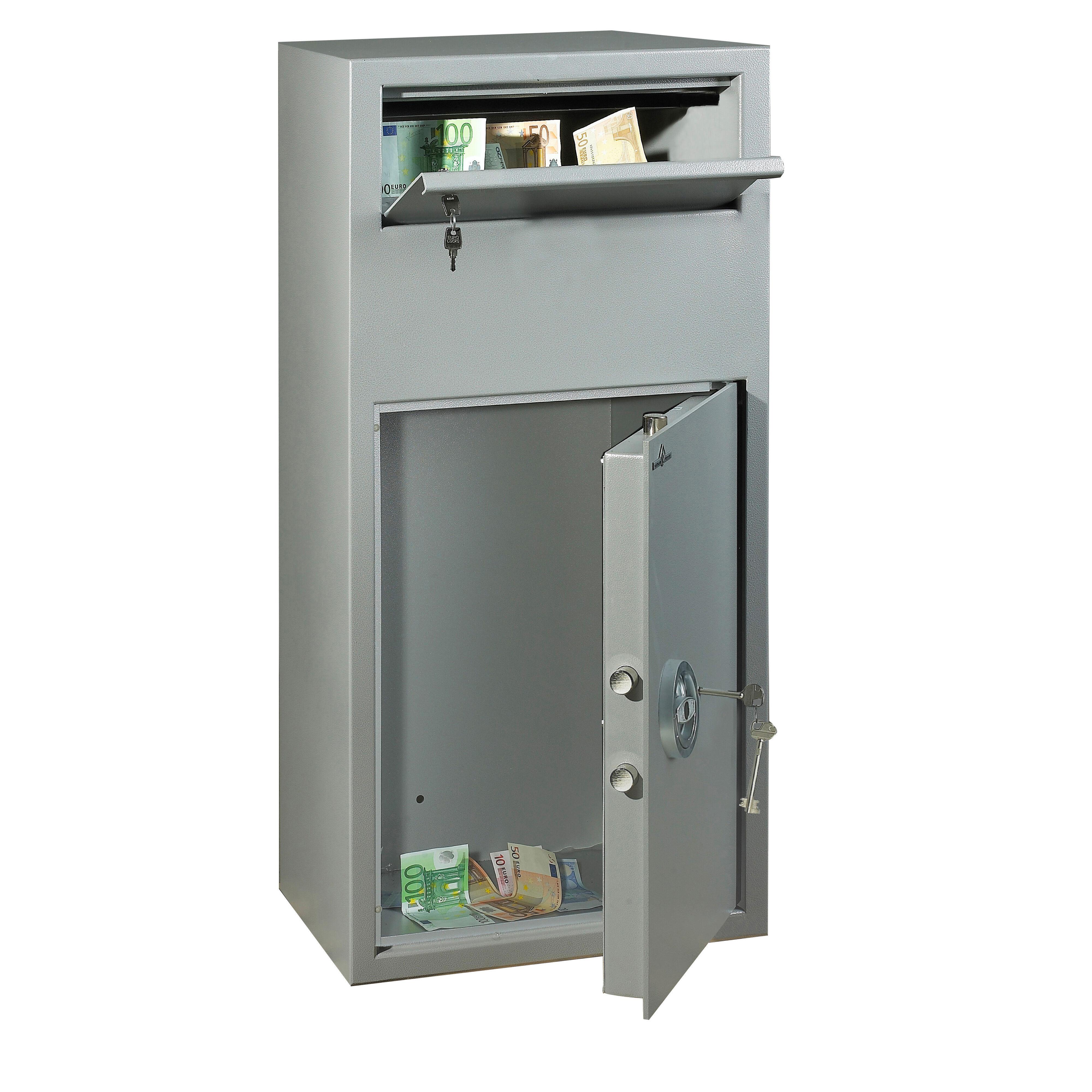 Axess Industries Coffre de dépôts de fonds à trappe   Type de serrure Clés A2P   Volume 78 L