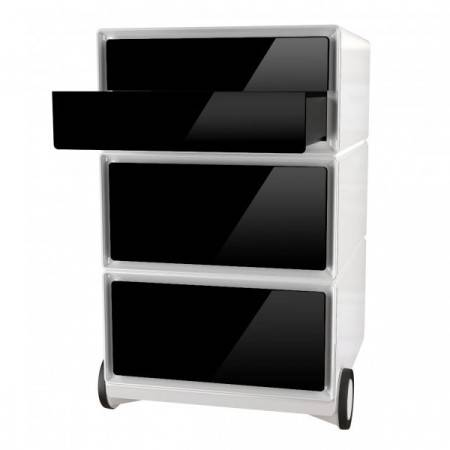 Axess Industries Caisson mobile Easy Box 2 plumiers + 2 tiroirs de rangement